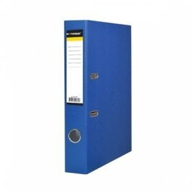 Папка-регистратор inФОРМАТ А4 картонная с PVC, синяя, 55 мм собранная