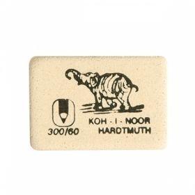 Ластик KOH-I-NOOR в ассортименте, каучук белый