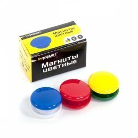 Магниты для досок inФОРМАТ d30 мм 6 шт.