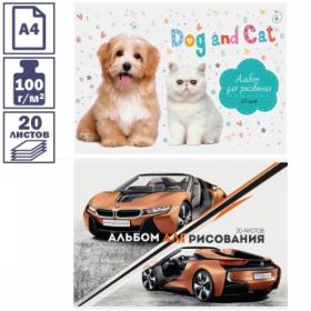 Альбом для рисования А4 ArtSpace 20 листов в ассортименте
