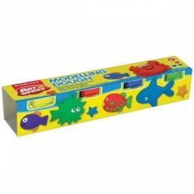"""Масса для лепки """"Modelling Dough №1"""" 4 цвета"""