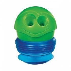 """Точилка пластиковая """"Croc Croc"""" с контейнером, 2 отверстия, в ассортименте"""