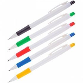 Ручка автоматическая шариковая OfficeSpace синяя 0,7 мм в белом корпусе