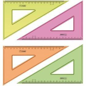 Треугольник 30°/18 см прозрачный флуоресцентный, ассорти