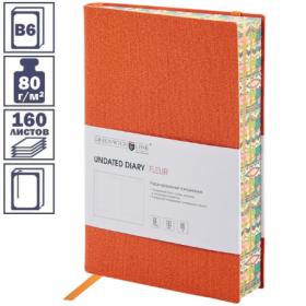 """Ежедневник """"Fleur"""" формата B6 недатированный, 160 листов, в ассортименте"""