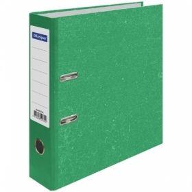 Пaпкa-регистратор OfficeSpace А4 70 мм, мрамор, зеленая