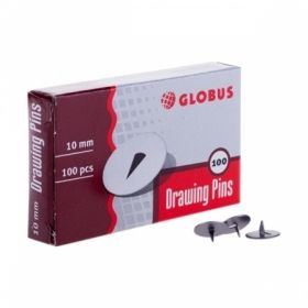 Кнопки канцелярские Globus, 10 мм, 100 шт
