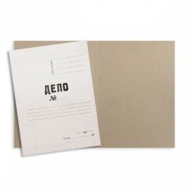 Папка-обложка A4 ДЕЛО №, немелованный картон 260 гр/м2