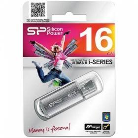 "Память SiliconPower ""Ultima II"" 16GB, USB2.0 Flash Drive, Silver"
