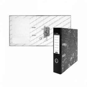 Папка-регистратор inФОРМАТ А4 картонная, мрамор, 55мм собранный