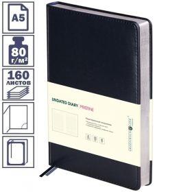 """Ежедневник Greenwich Line """"Pristine"""" формата А5 недатированный, 160 листов, черный"""