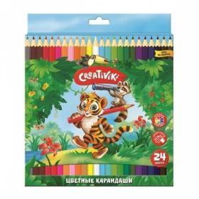 Набор цветных карандашей Creativiki, 24 цвета