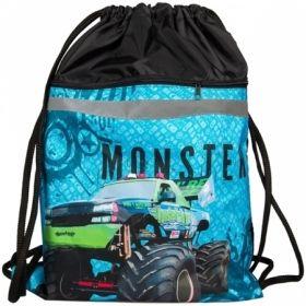 """Мешок для обуви 2 отделения ArtSpace """"Monster Truck"""", со светоотражающей полосой"""