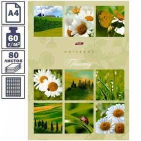"""Бизнес-блокнот А4 Hatber """"Ромашковое настроение"""", 80 листов, 5-ти цветный блок"""