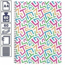 """Тетрадь А4 в клетку на гребне Erich Krause Lines"""", пластиковая обложка, 60 листов"""""""