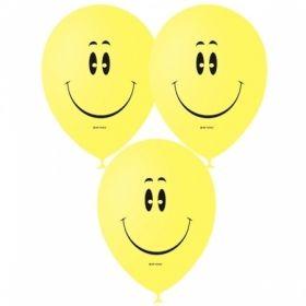 """Воздушные шары Поиск """"Смайл YELLOW"""" М12/30см, пастель / шелк, 50 шт"""