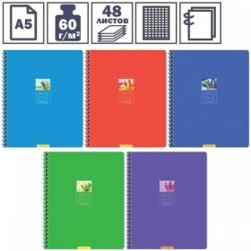 "Тетрадь А5 в клетку на гребне ArtSpace Моноколор. Office style"", 48 листов"""