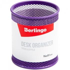 """Подставка-стакан Berlingo """"Steel Style"""" металлическая круглая в ассортименте"""
