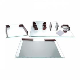 Настольный набор Protege Empereur, 9 предметов, стекло и натуральное дерево