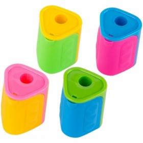 Точилка пластиковая с контейнером ArtSpace, 1 отверстие, ассорти
