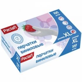 Перчатки виниловые Paclan неопудренные XL, 100 шт.