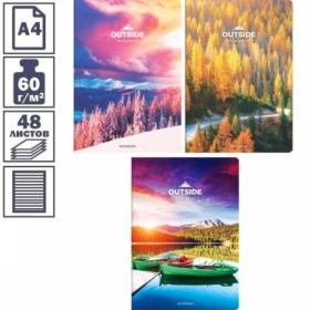 """Тетрадь А4 в линейку на скрепке ArtSpace """"Путешествия. Открой мир"""", 48 листов"""