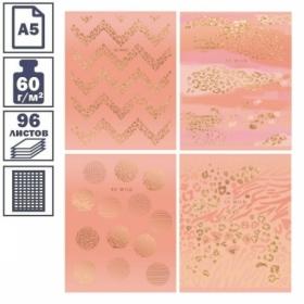 """Тетрадь А5 в клетку на скрепке ArtSpace """"Animal print"""", 96 листов"""