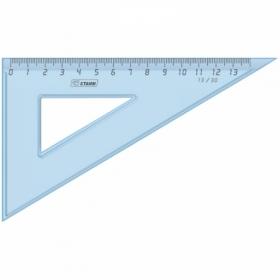Треугольник 30°/ 13 см Стамм, прозрачный голубой