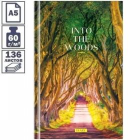 """Ежедневник недатированный А5 7БЦ OfficeSpace """"Путешествия. Inside the nature"""", 136 листов"""