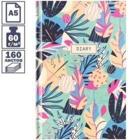 """Ежедневник недатированный А5 7БЦ OfficeSpace """"Цветы. Bright tropics"""", 160 листов"""