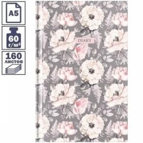 """Ежедневник недатированный А5 7БЦ OfficeSpace """"Цветы. Wild rose"""", 160 листов"""