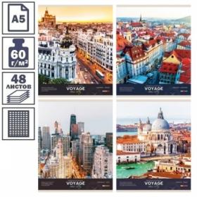 """Тетрадь А5 в клетку на скрепке ArtSpace """"Путешествия. Impressions and emotions"""", 48 листов"""