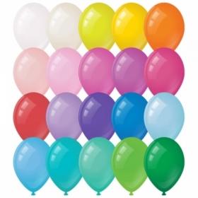 Воздушные шары MESHU М12/30см, пастель, 20 цветов, 100 шт