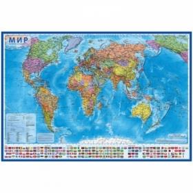 """Карта """"Мир"""" политическая Globen, 1:28 млн., 1170х800 мм, интерактивная в тубусе"""