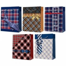 Пакет подарочный Русский дизайн 22х31х11 см, микс мужской, ламинированный