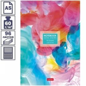 "Бизнес-блокнот А5 Hatber ""Потоки цвета"", 96 листов"