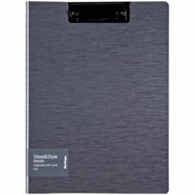 """Папка-планшет с зажимом Berlingo """"Steel Style"""" A4, пластик, в ассортименте"""