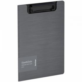 """Папка-планшет с зажимом Berlingo """"Steel Style"""" A5+, пластик, в ассортименте"""