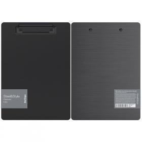 """Планшет с зажимом Berlingo """"Steel Style"""" A5+, пластик, черный"""