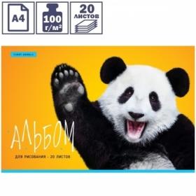 """Альбом для рисования ArtSpace """"Животные. Funny panda"""" на скрепке, 20 листов"""