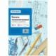 Бумага масштабно-координатная OfficeSpace А4 голубая, 10 листов