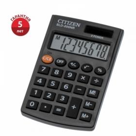 Калькулятор карманный Citizen SLD-200NR, 8 разрядов, черный