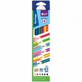 """Карандаши с двухцветным грифелем Berlingo """"SuperSoft. 2 in 1"""", 6 штук, 12 цветов"""