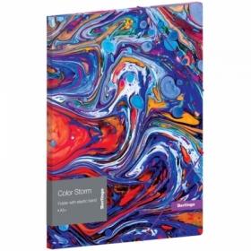 """Папка для тетрадей на резинке Berlingo """"Color Storm"""" А5+, 600 мкм"""