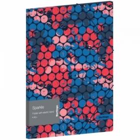 "Папка для тетрадей на резинке Berlingo ""Sparkle"" А5+, 600 мкм"