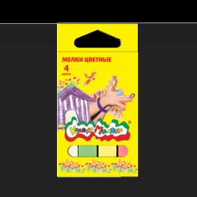 Мелки цветные Каляка-Маляка 4 штуки