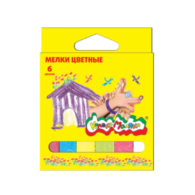 Мелки цветные Каляка-Маляка 6 штук