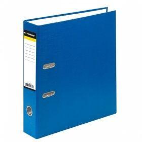 Папка-регистратор inФОРМАТ А4 картонная с PVC, синяя, 75 мм собранная