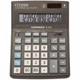 Калькулятор настольный бухгалтерский 16-разрядный Correct D