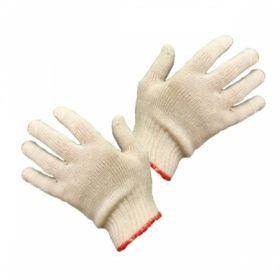 Перчатки вязаные из хлопчатобумажной пряжи